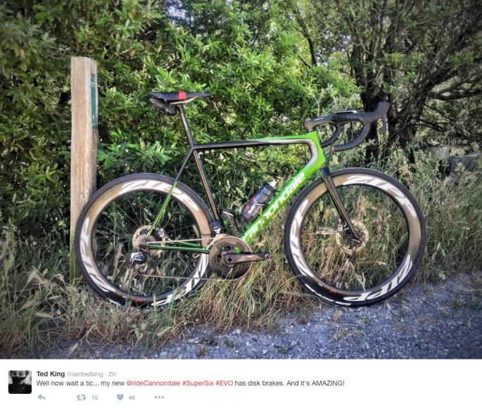 ted-king-cannondale-supersix-evo-sram-etap-hydro-disc-brakes-twitter