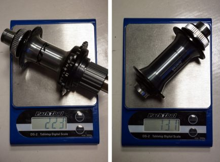 2019-Shimano-XTR-M9100-actual-weights-front-and-rear-hubs